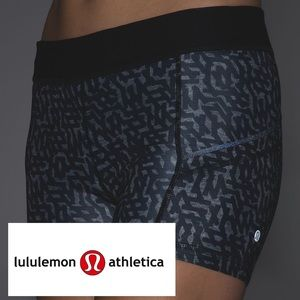 Lululemon What The Sport Cycle Short Grey Black